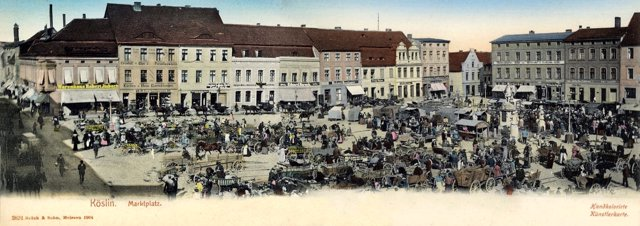 Koszalin Koszalin. Panorama am Markt
